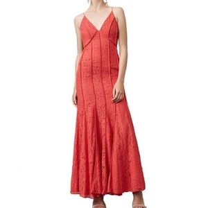 Keepsake The Label Dreamers Coral Lace Gown NEW